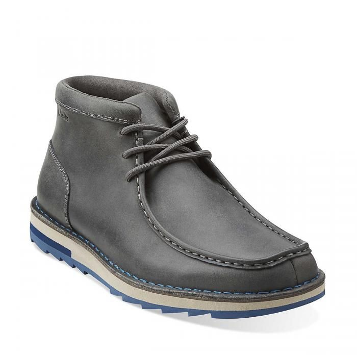Clarks Mens Ankle Boots Size 11.5 M Mumford Folk Grey Leather 65996 - 11 Main...