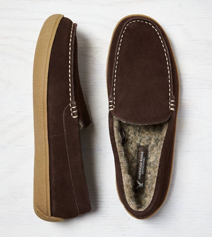 Dark Brown AEO Suede Moccasin...