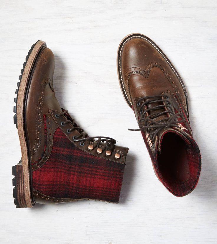 Dark Brown Woolrich Millwright Boot