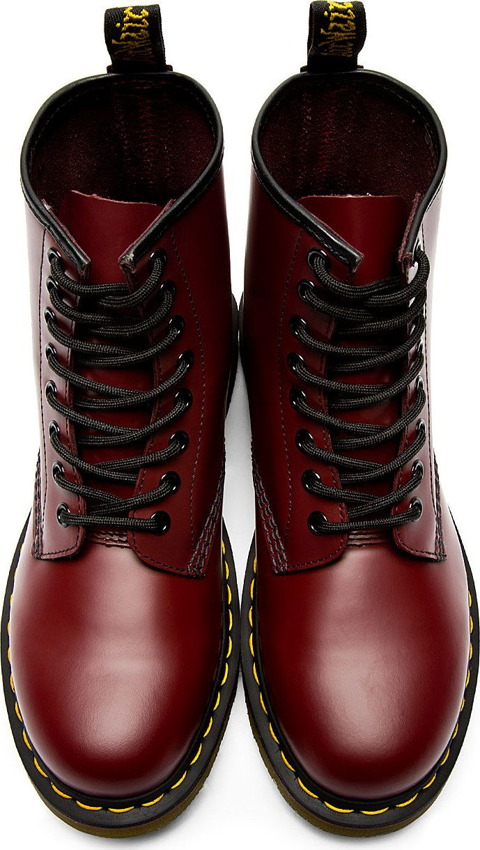 2b3bc2a08 The Best Men's Shoes And Footwear : Dr. Martens - Red Leather 1460 8 ...