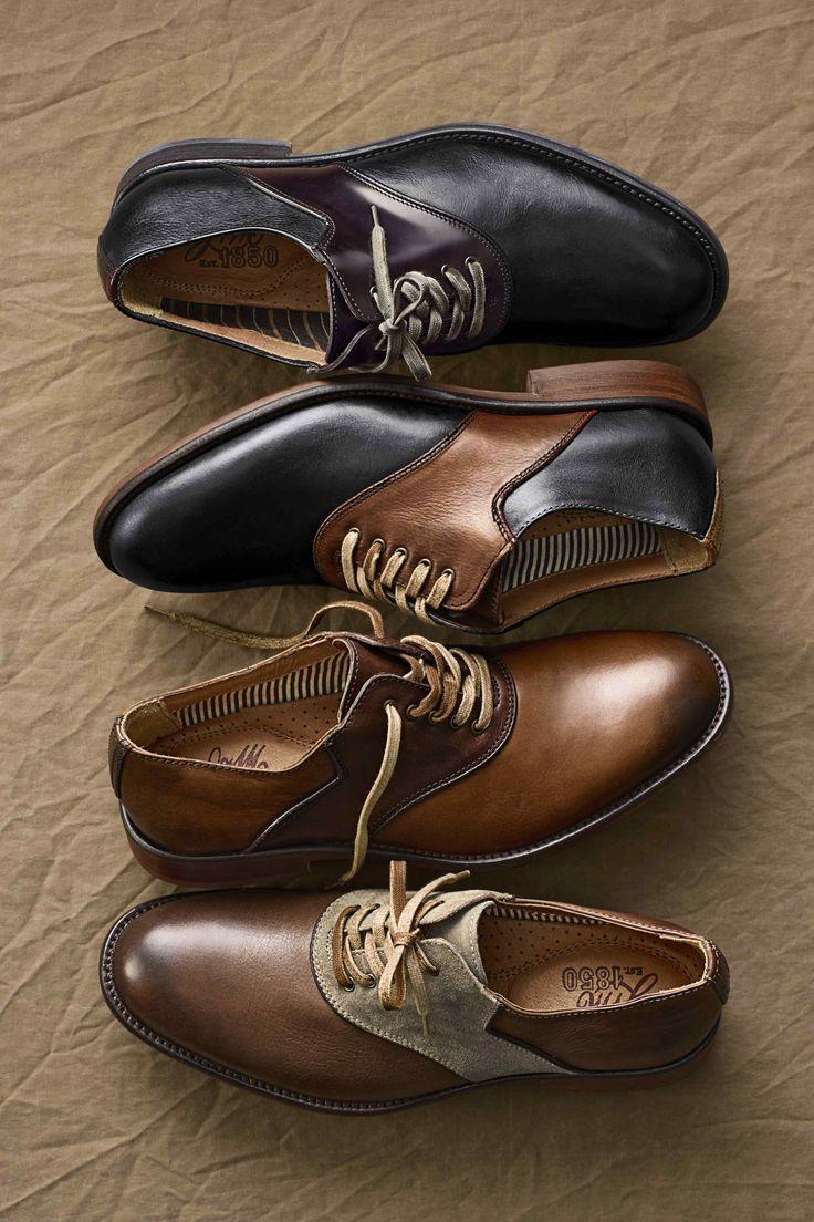 Johnston & Murray - Decatur Saddle shoes #nattyguy #mensfashion #shoes...