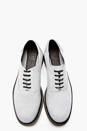 MCQ ALEXANDER MCQUEEN Grey Matte Leather Defy Lace Up Shoes
