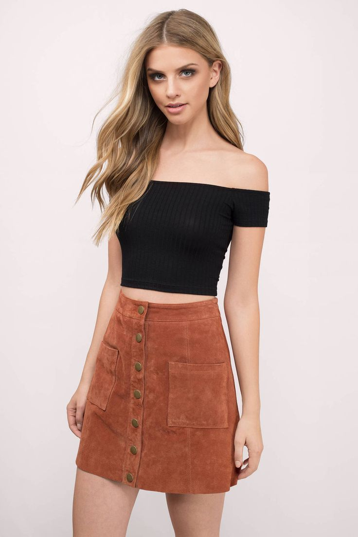 Trendy Ideas For Summer Outfits  Search U0026quot;Talk To Me Black Crop Topu0026quot; On Tobi.com! Off The ...