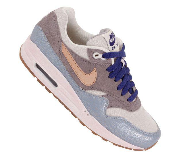 Nike WMNS Air Max 1 Premium-Metallic Silver-Vachetta Tan-Clear Grey  #sneakers #...