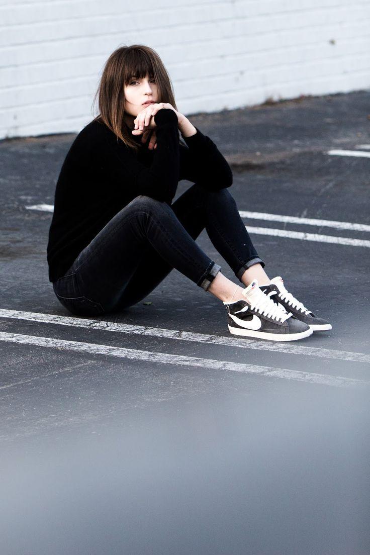 black, sneakers...