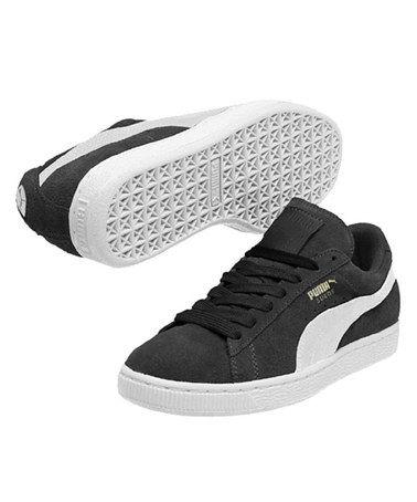Black & White Suede Classic Sneaker