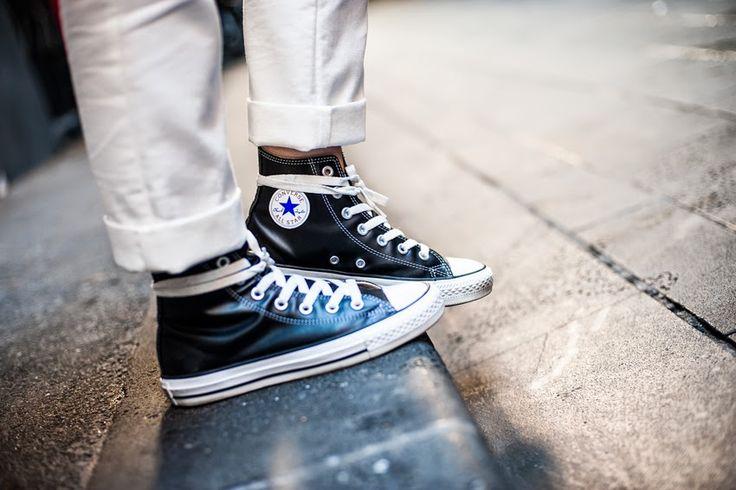 Converse Chuck Taylor hi-top sneakers...