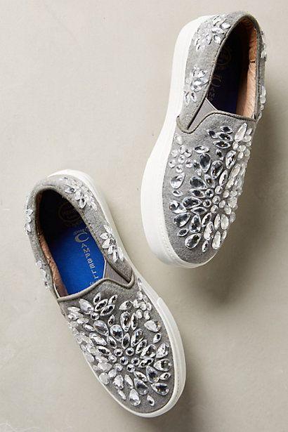 Jeffrey Campbell Sarlo Jeweled Sneakers...