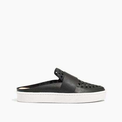 loeffler randall® linette slip-on sneakers in perforated leather...