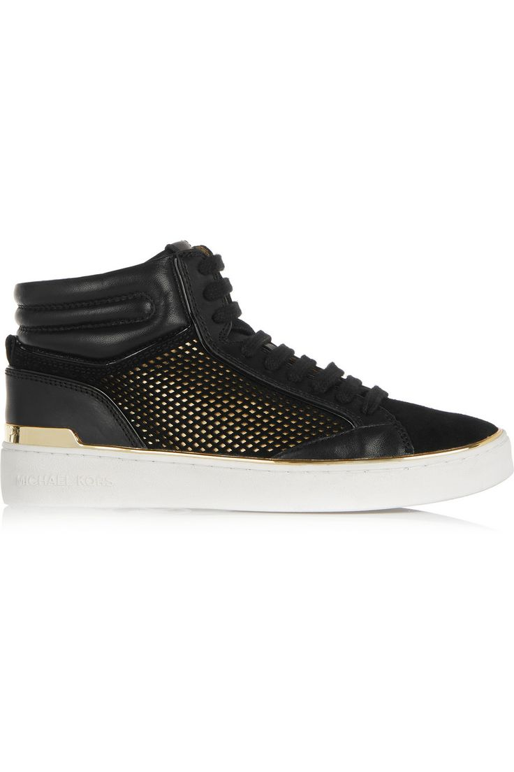 MICHAEL Michael Kors Phoebe leather and suede high top sneakers