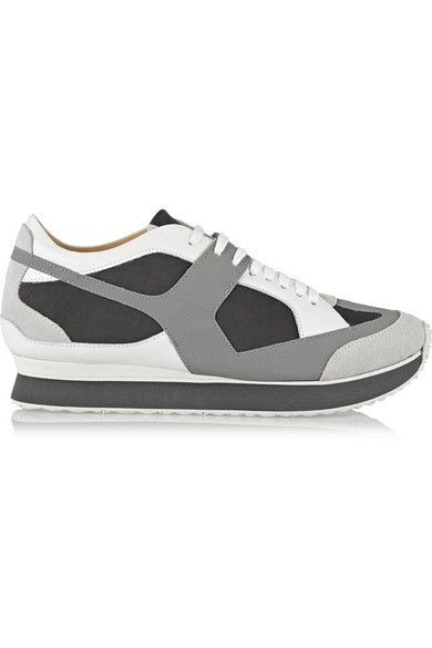 MM6 MAISON MARTIN MARGIELA Suede, leather and rubber sneakers