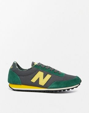 New Balance 410 Suede/Wax Canvas Green Sneakers...