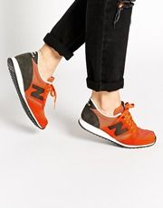 New Balance 420 Orange Suede/Mesh Sneakers...
