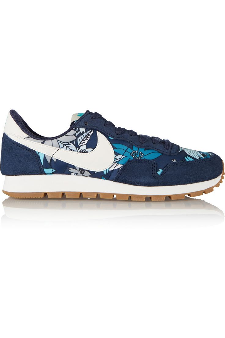 huge discount d173d 08a07 ... Air Pegasus 83 suede and printed shell sneakers. Nike