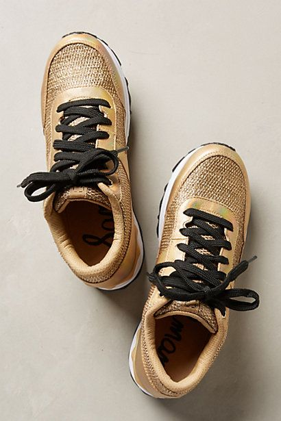 Sam Edelman Gold Dax Sneakers...