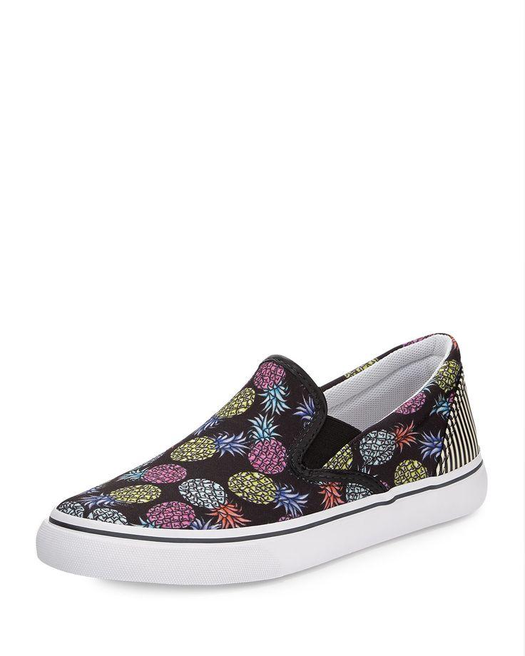 Sophia Webster Adele Pineapple Skate Sneaker, Black/Multi...