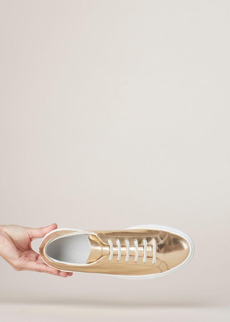 Totokaelo - Woman by Common Projects  Salmon Achilles Low Foil Sneaker - $455.00