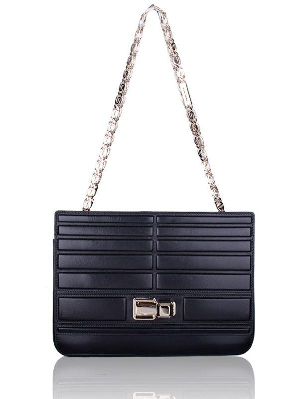Elie Saab NWT Nappa Leather Box Chain Flap Bag...