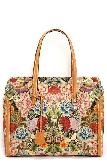 Alexander McQueen 'Padlock' Floral Print Duffel Bag | Nordstrom