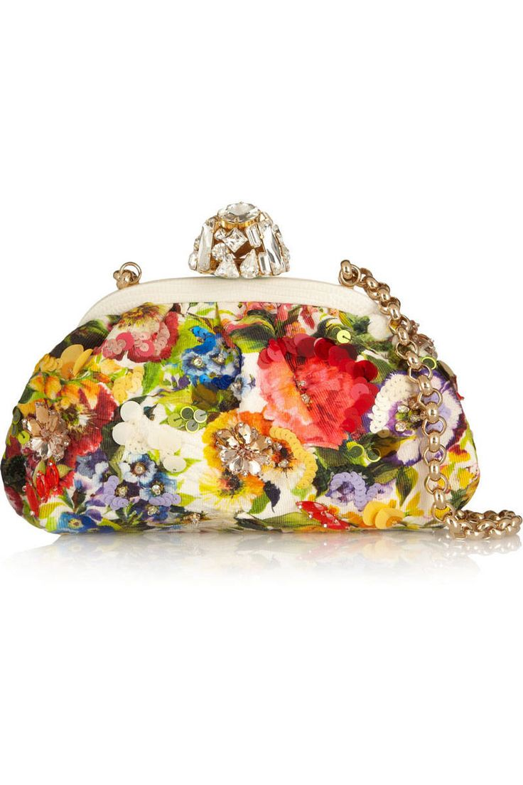 Dolce & Gabbana Dea Embellished Floral-Brocade Shoulder Bag, $2,995