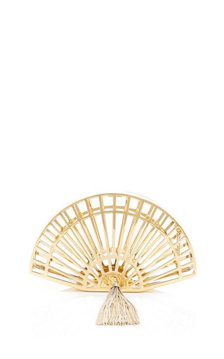 Fantastic Tasseled Metal Clutch by Charlotte Olympia Now Available on Moda Opera...