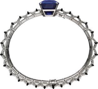 High Jewellery bracelet White gold, sapphire, onyx, diamonds.