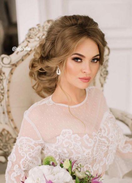 Featured Hairstyle: Elstile www.elstile.ru; Wedding hairstyle idea....