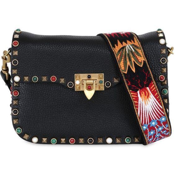 Valentino Rocketed Rolling Enchanted Guitar-Strap Shoulder Bag
