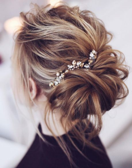 Featured Hairstyle: tonyastylist (Tonya Pushkareva); Wedding hairstyle idea....