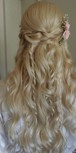 Featured Hairstyle: Heidi Marie Garrett - Hair and Makeup Girl; Wedding hairstyl...