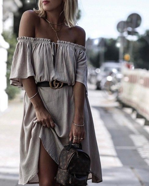 Look Like The Bohemian Queen That You Are With This Off Shoulder Midi Dress $41 ...