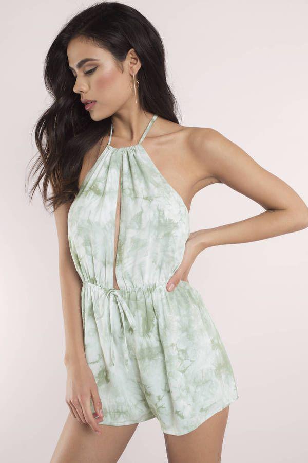 Ariana Tie Dye Print Romper