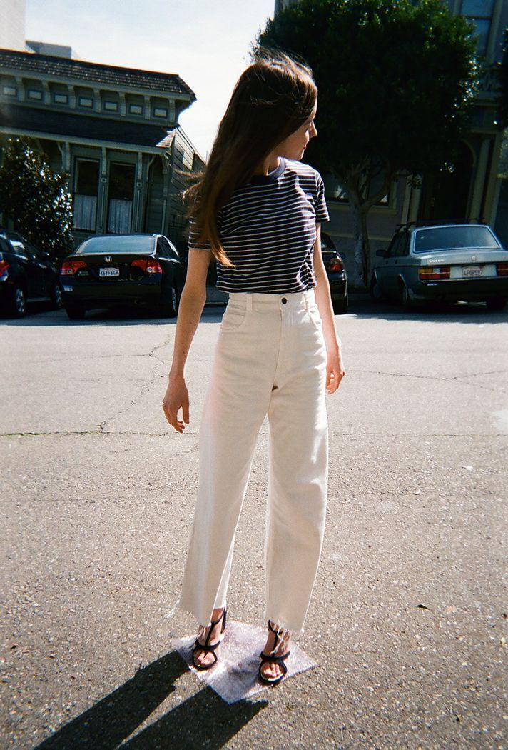 What to wear with white jeans...