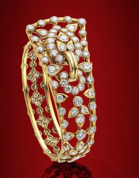 A diamond bangle, by Cartier, circa 1960