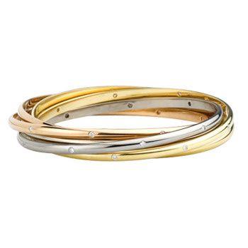 Betteridge: Cartier 18k Gold & Diamond 'Trinity' Rolling Bangle