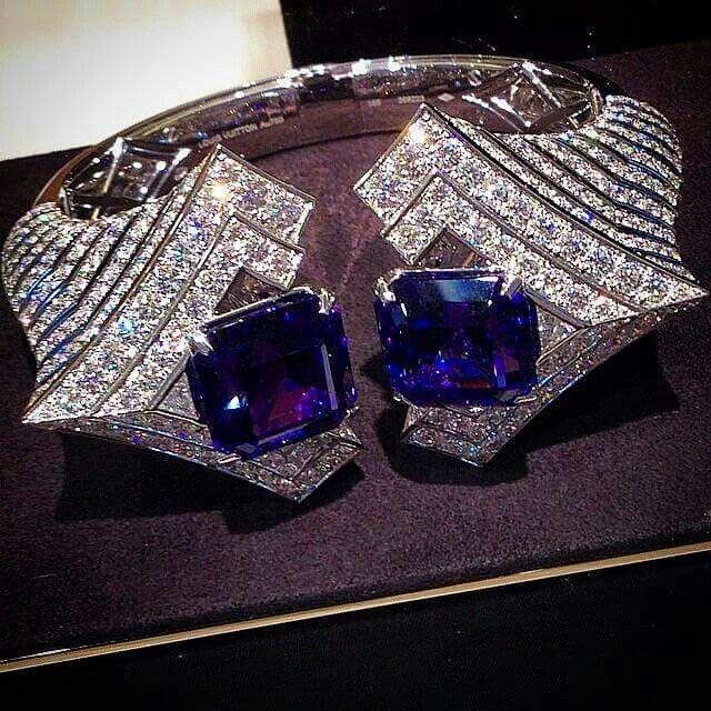 Bracelet en diamant et tanzanite