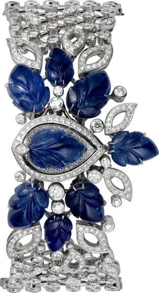 Cartier High Jewelry secret hour watch - Small model, rhodiumized 18K white gold...