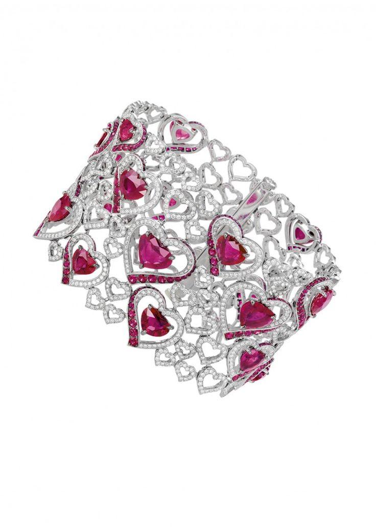 Chopard. Ruby & diamond bracelet...♡...