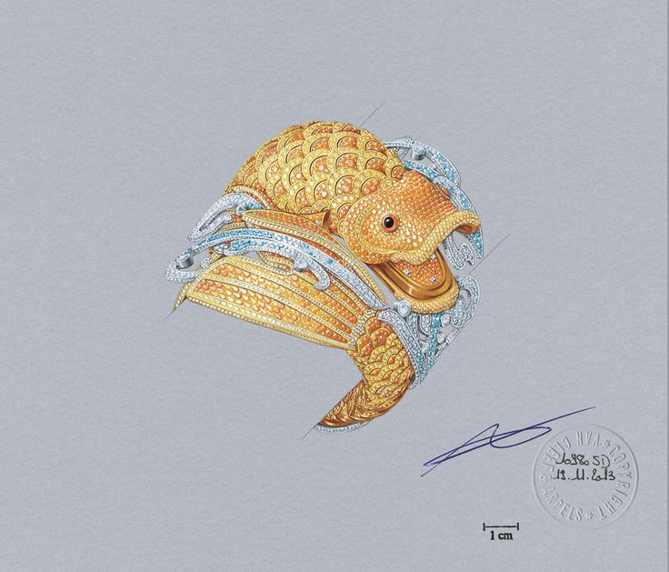 Discover the High Jewellery watch presented at SIHH 2015 - Carpe Koi by Van Clee...