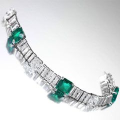 Emerald and Diamond bracelet; Duchess of Windsor....