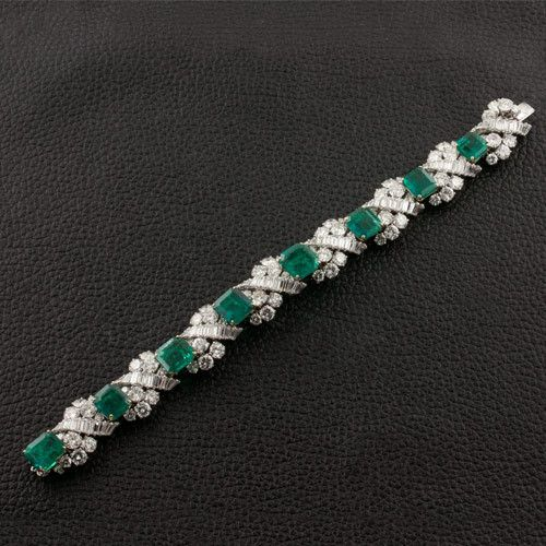 Emerald & Diamond Bracelet...