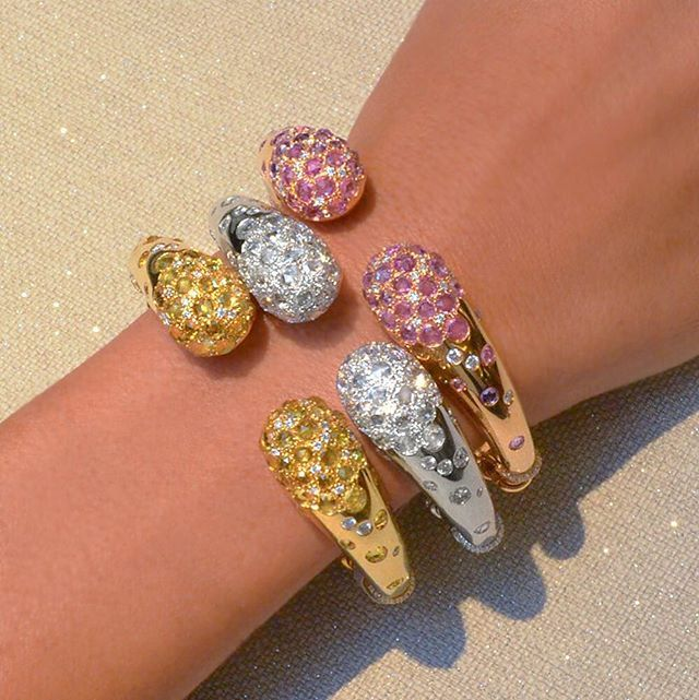 Fresh Friday's! New Arrivals at Cellinijewelers.com !! Rose cut pink and yellow ...