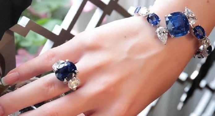 Gorgeous Sapphire and Diamond Bracelet and Ring...