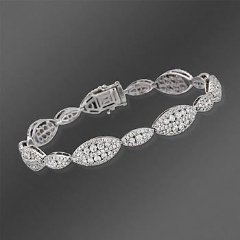 """Gregg Ruth 6.00 ct. t.w. Diamond Bracelet In 18kt White Gold. 7""""..."""