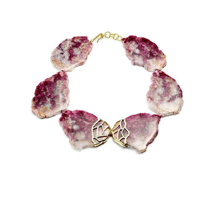 Kara Ross New York - Raw Ruby Slice Necklace, $12,500.00 (www.kararossny.co...)