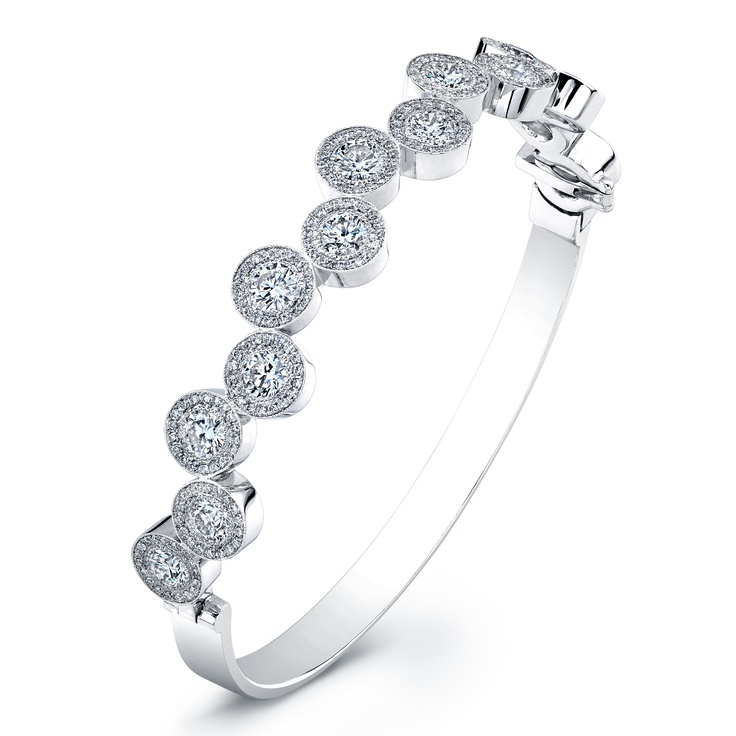 """O"" Bangle Featuring Forevermark Diamonds by Rahaminov Diamonds..."