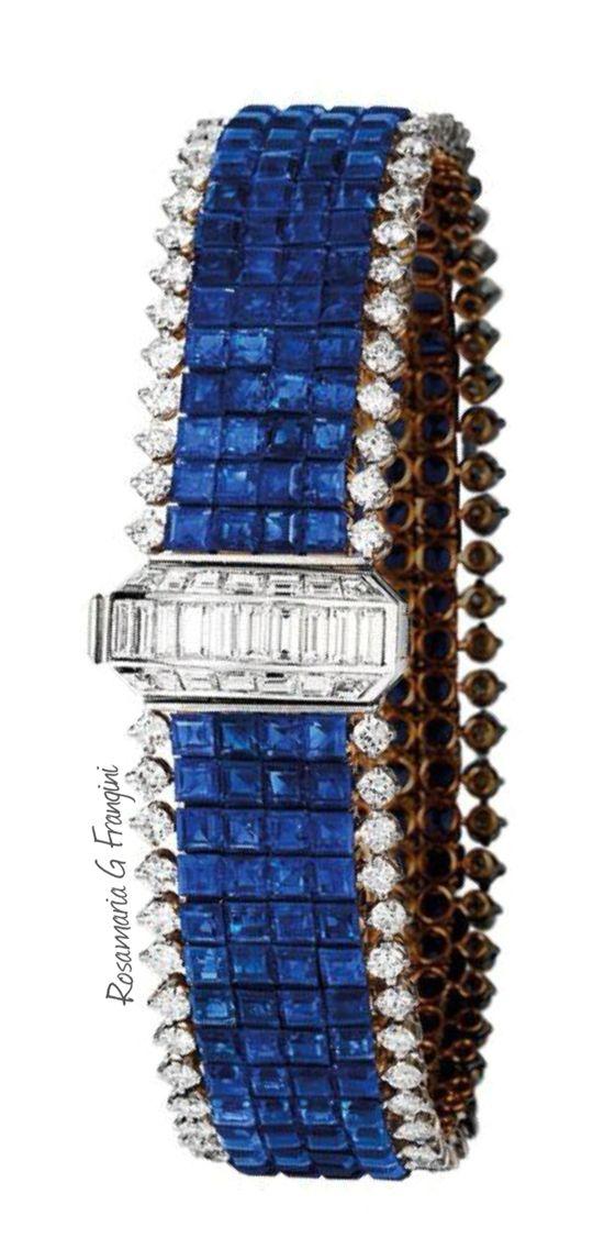 "RosamariaGFrangini | HighJewellery Clasdic | TJS | ""Sapphire and Diamond Brace..."