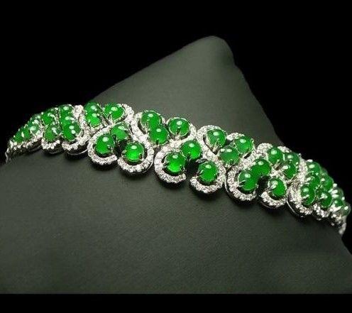 RP: Apple Green Jade Diamond Bracelet | eBay.com.au...