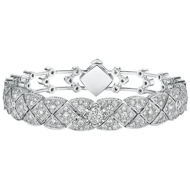 """Signature White Tie"" #Bracelet from #SignatureDeChanel - #Chanel - #FineJew..."