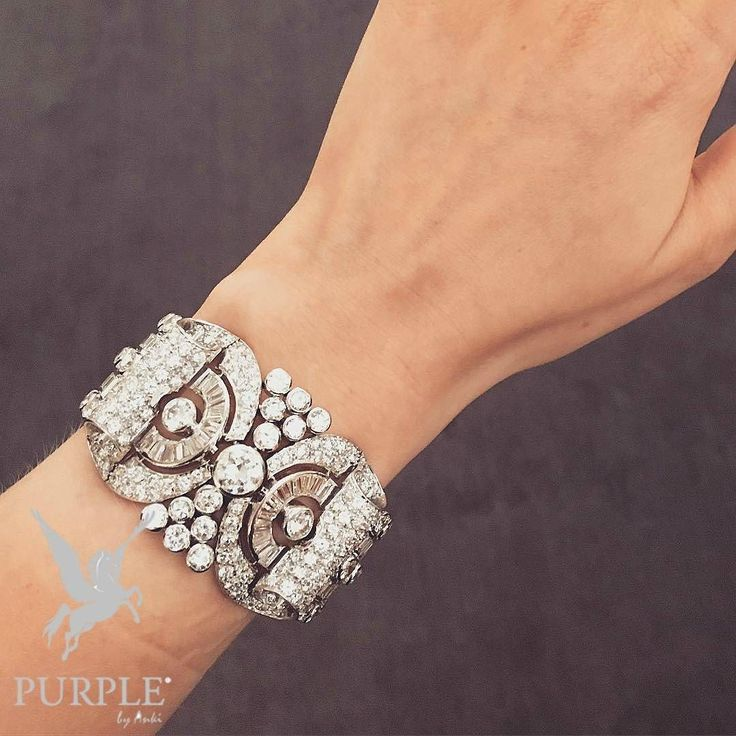Standout style with this DIAMOND BRACELET via @jewellerythroughtime #purplebyank...